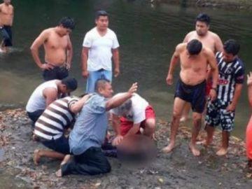 Reanimación a una niña arrastrada por la corriente en  Xalapa