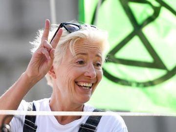 Emma Thompson se suma a las protestas en Londres contra el cambio climático