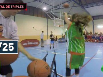 Espectacular: ojo a la exhibición de esta niña en un concurso de triples