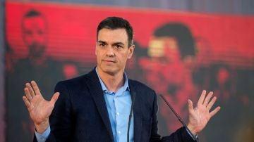 El presidente del Gobierno y candidato socialista a las elecciones del próximo 28 de abril, Pedro Sánchez