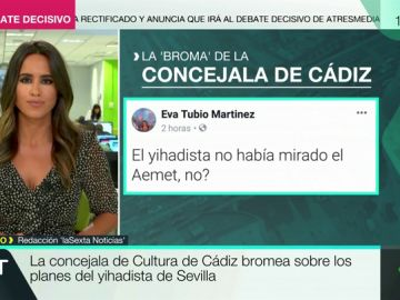 Comentario en Twitter de la concejala de Cultura de Cádiz
