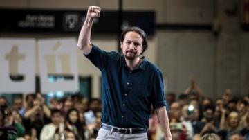 El candidato de Unidas Podemos, Pablo Iglesias.