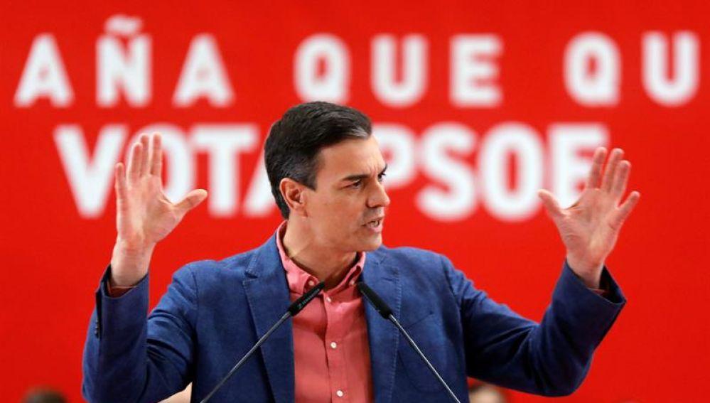 El presidente del Gobierno y candidato del PSOE, Pedro Sánchez