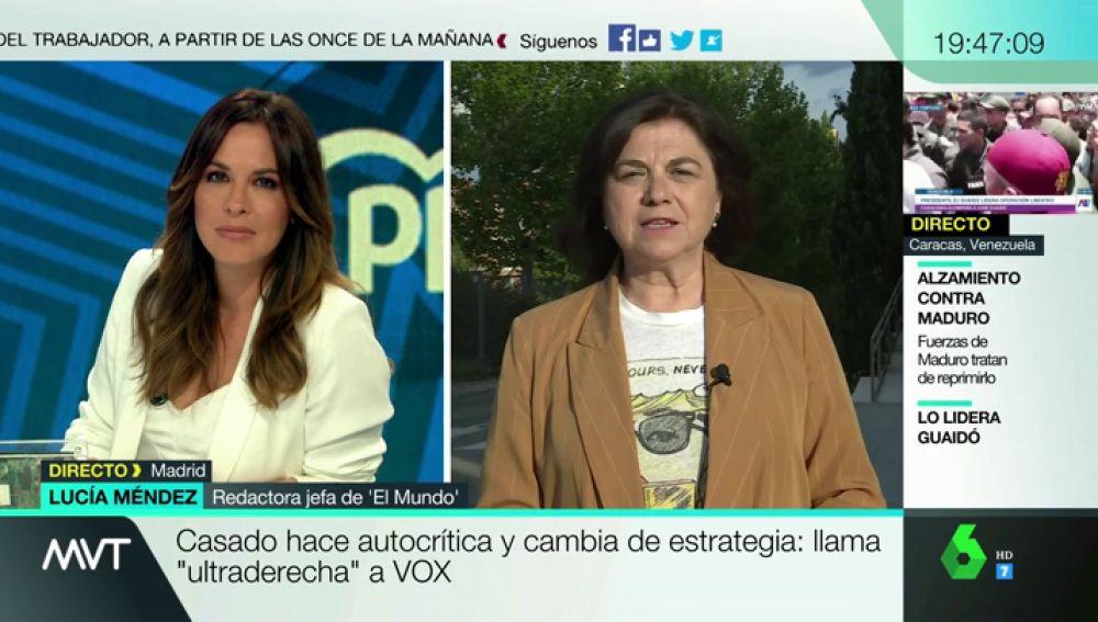"""Lucía Méndez: """"Pablo Casado reniega de todo lo que ha hecho desde que está al frente del PP"""""""