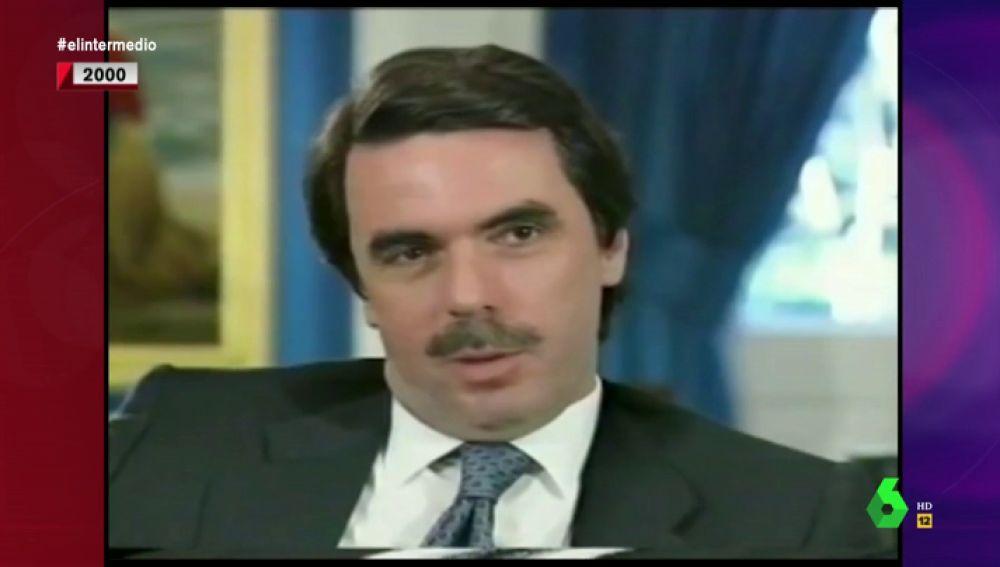 El vídeo que demuestra que Aznar, además del bigote, perdió los principios políticos