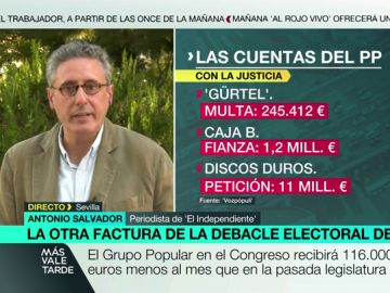 """Antonio Salvador: """"El PP podría dejar de percibir casi 11 millones de euros"""""""