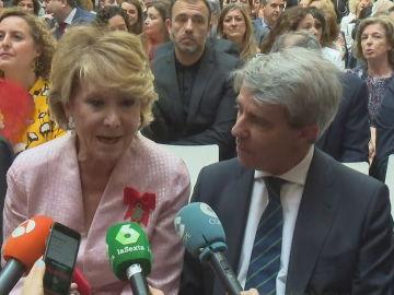 Esperanza Aguirre y Ángel Garrido coinciden en el acto de celebración del 2 de Mayo, Día de la Comunidad de Madrid.