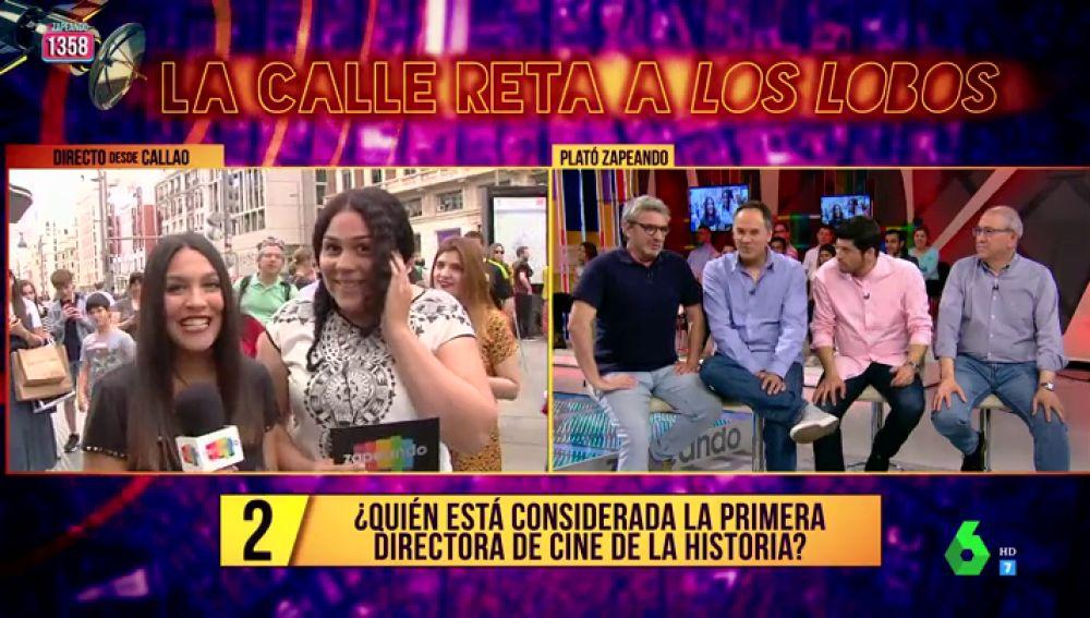"""La calle reta a 'Los Lobos' en Zapeando: """"¿Quién es la primera directora de cine de la historia?"""""""