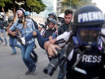 Imagen de archivo de disturbios en Venezuela