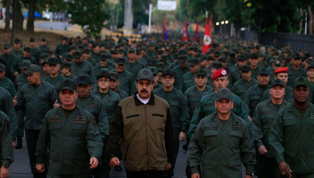Las fuerzas desplegadas por Nicolás Maduro
