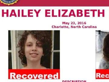 Hailey Elisabeth Burns, la menor que estuvo desaparecida durante un año