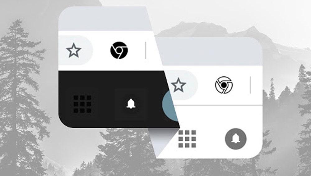 Botón para activar el modo oscuro de Chrome