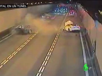 Un hombre muere en un impresionante accidente en un túnel de Barcelona