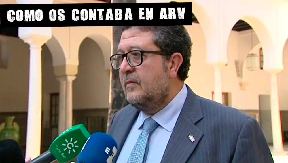 Francisco Serrano, presidente de Vox en Andalucía
