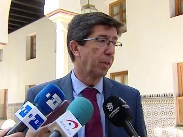"""Juan Marín responde a Vox: """"Los trabajadores de violencia de género de la Junta tienen toda la preparación necesaria"""""""