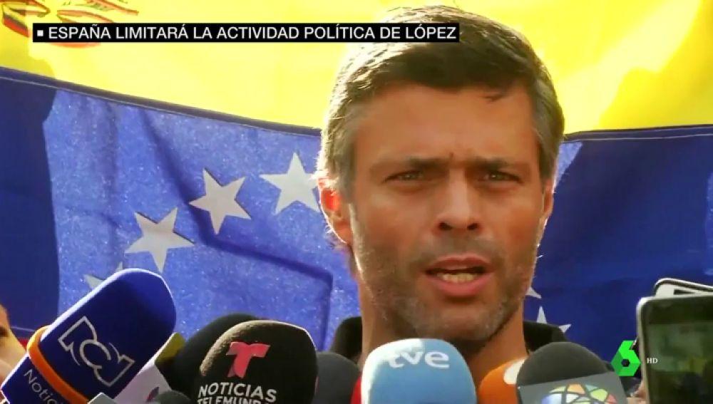"""El Gobierno español recuerda a Leopoldo López que es un """"huésped"""" en la embajada en Caracas"""