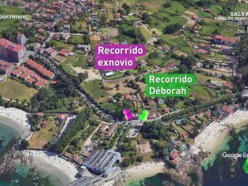 Reconstruimos el recorrido que hicieron Déborah Fernández y su exnovio: habrían coincidido en el lugar que desapareció