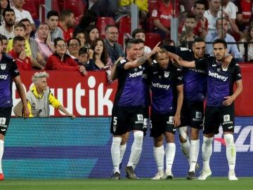El Leganés celebra un gol