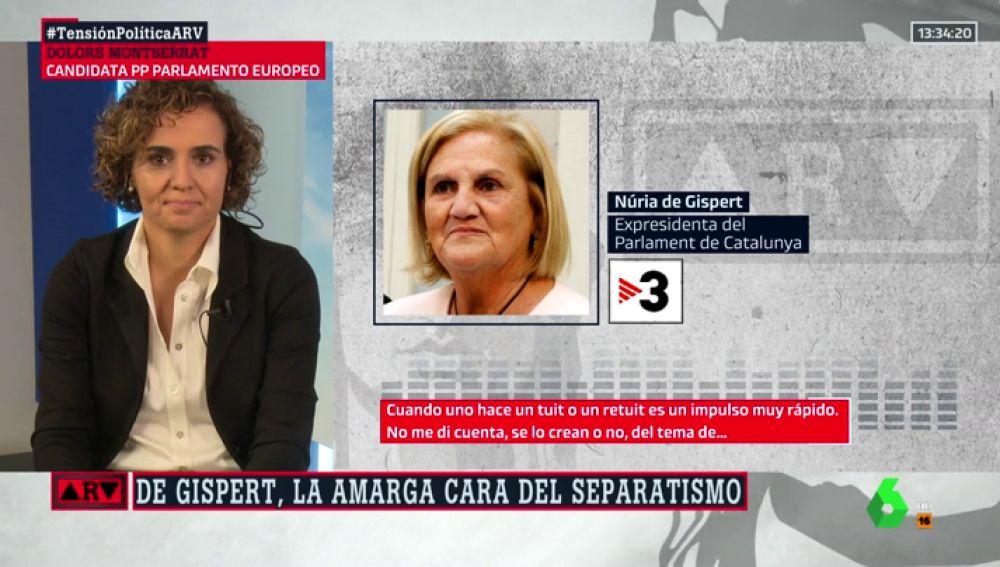"""Dolors Montserrat responde a Núria de Gispert: """"Se ha retratado otra vez en que es racista y supremacista"""""""