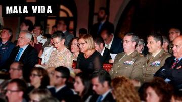 Nuria de Gispert en un acto institucional del ejército por el Día de las Fuerzas Armadas en 2015