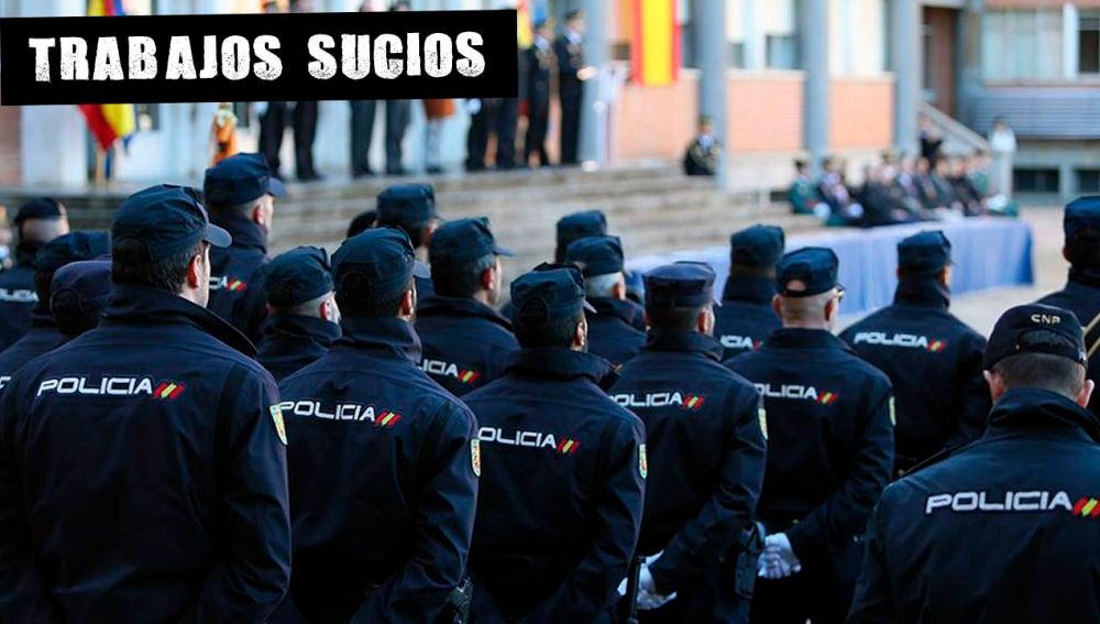 Agentes en la celebración del 194 aniversario de la creación de la Policía Nacional en 2018.