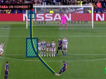 ¿Estaba mal colocada la barrera en el gol de Messi?
