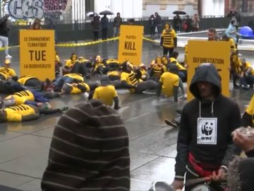 Imagen de la protesta medioambiental en París
