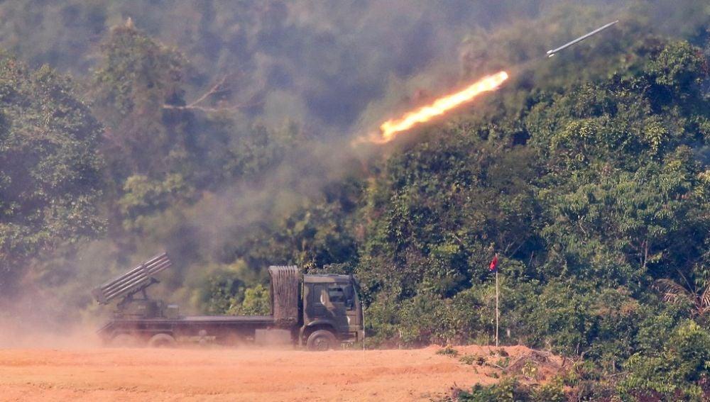 Imagen de los proyectiles disparados por Corea del Norte