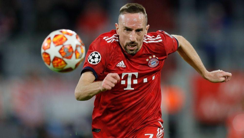 Frank Ribéry, durante un partido con el Bayern de Múnich