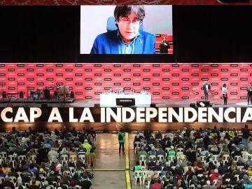 Intervención telemática de Carles Puigdemont durante la Asamblea General