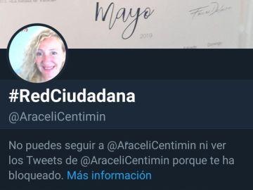 La extensa lista de bloqueos ha convertido a #Araceli en TT