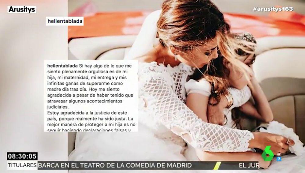 Elena Tablada estalla contra Bisbal y muestra una fotografía con su hija Ella