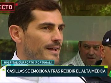 Casillas sale del hospital