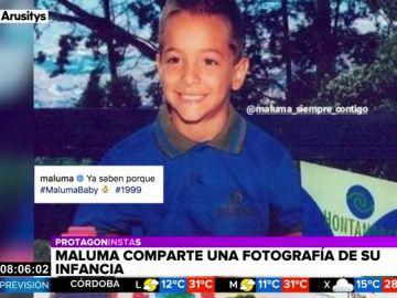 La tierna fotografía de Maluma con cinco años que enamora a las redes sociales