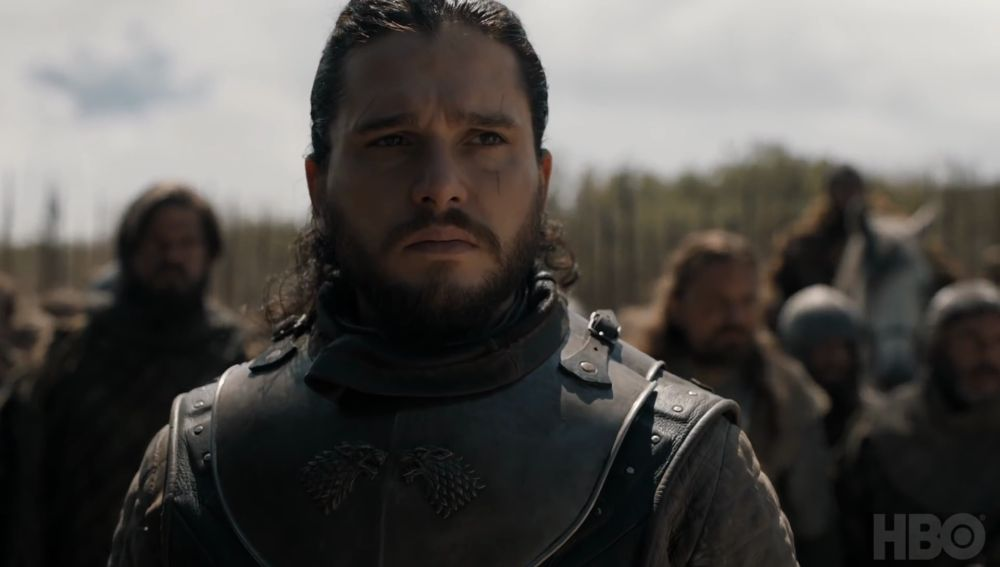 Kit Harrington interpretando a Jon Snow en 'Juego de Tronos'