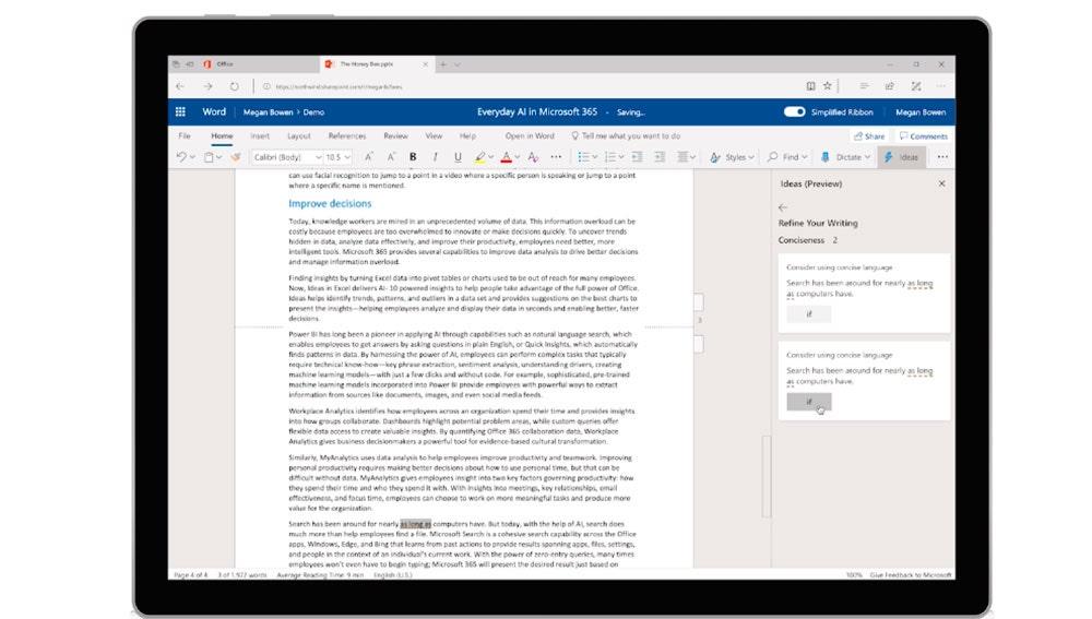 El nuevo Microsoft Word con IA