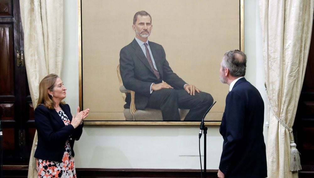 El retrato del rey que encargó el Congreso de los Diuputados