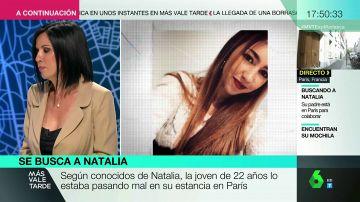 Beatriz de Vicente analiza el perfil psicológico de Natalia, la joven desaparecida en París