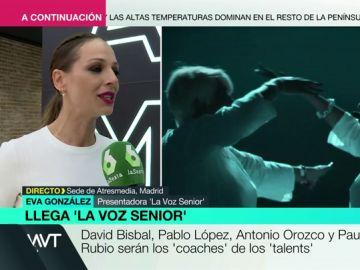 Eva González confiesa que la nueva edición de 'La Voz Senior' es su favorita