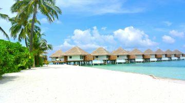 Imagen de archivo de una playa de las Maldivas.