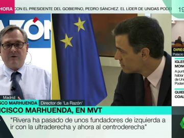 """Los elogios de Francisco Marhuenda a Pedro Sánchez: """"Es un líder político con mucho cuajo, con fuerza política y con capacidad de liderazgo"""""""