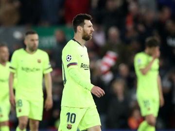 Leo Messi, tras la eliminación del Barça en Anfield