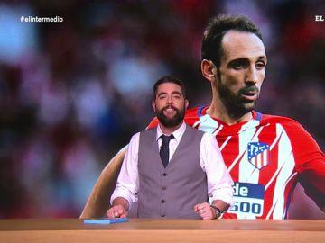 El jugador del Atlético Juanfran Torres le regala a su mujer una sesión del juicio del 'procés'