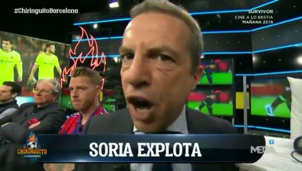 El mayor enfado que se recuerda de Cristóbal Soria: ¡indignado tras la derrota del Barcelona en Anfield!