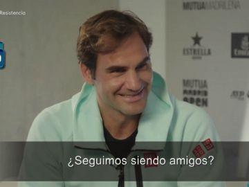 """La surrealista entrevista de Broncano a Roger Federer: """"Si tienes un accidente, puedes llamarme y te dono un órgano"""""""