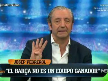 """El durísimo mensaje de Pedrerol: """"El Barça no es un equipo ganador... me da mucha pena"""""""