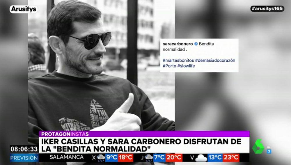 Las bonitas fotografías de Iker Casillas de vuelta a la 'bendita normalidad' de Sara Carbonero