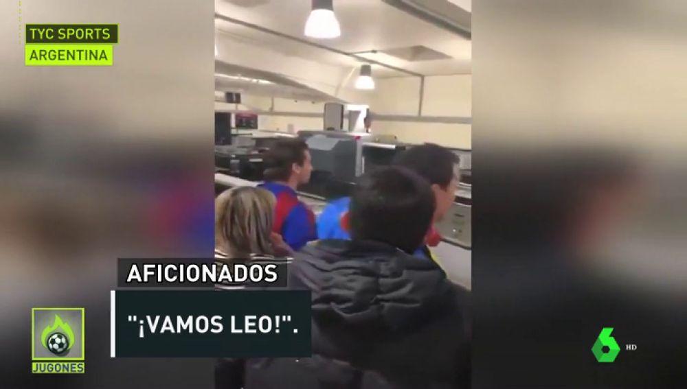 Messi increpado