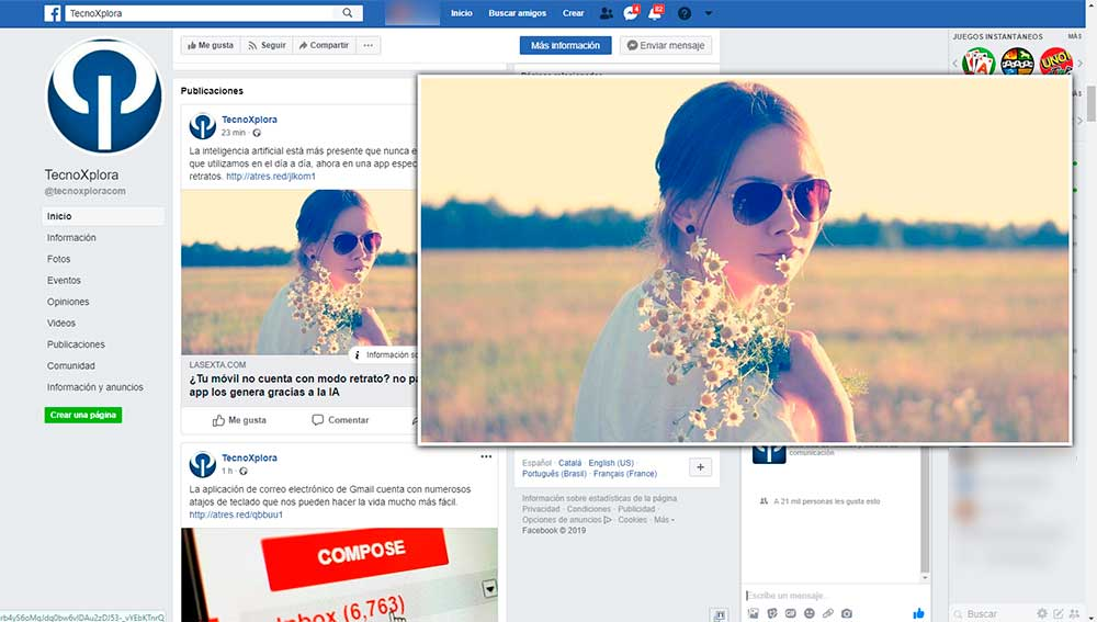 Facebook Photo Zoom