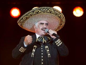 El cantante mexicano Vicente Fernández
